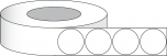 "1.5"" Circle, Premium Gloss Paper, 1700/roll, 3"" core"